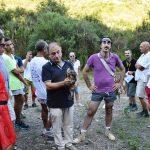 Gruppo escursione co il sindaco di Pollica Stefano Pisani