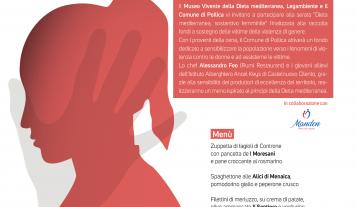 """""""Dieta mediterranea sostantivo femminile"""", cena di solidarietà per le donne vittime di violenza"""